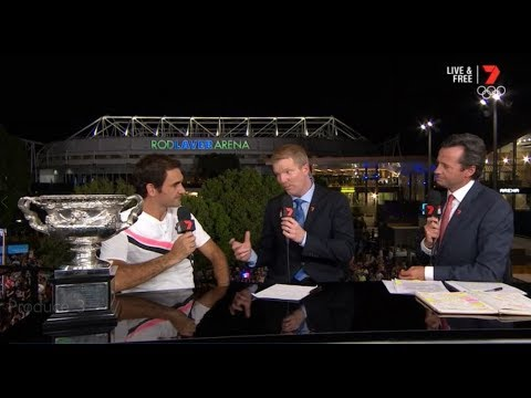Roger Federer - Interview after winning 2018 Australian Open Men's Finals