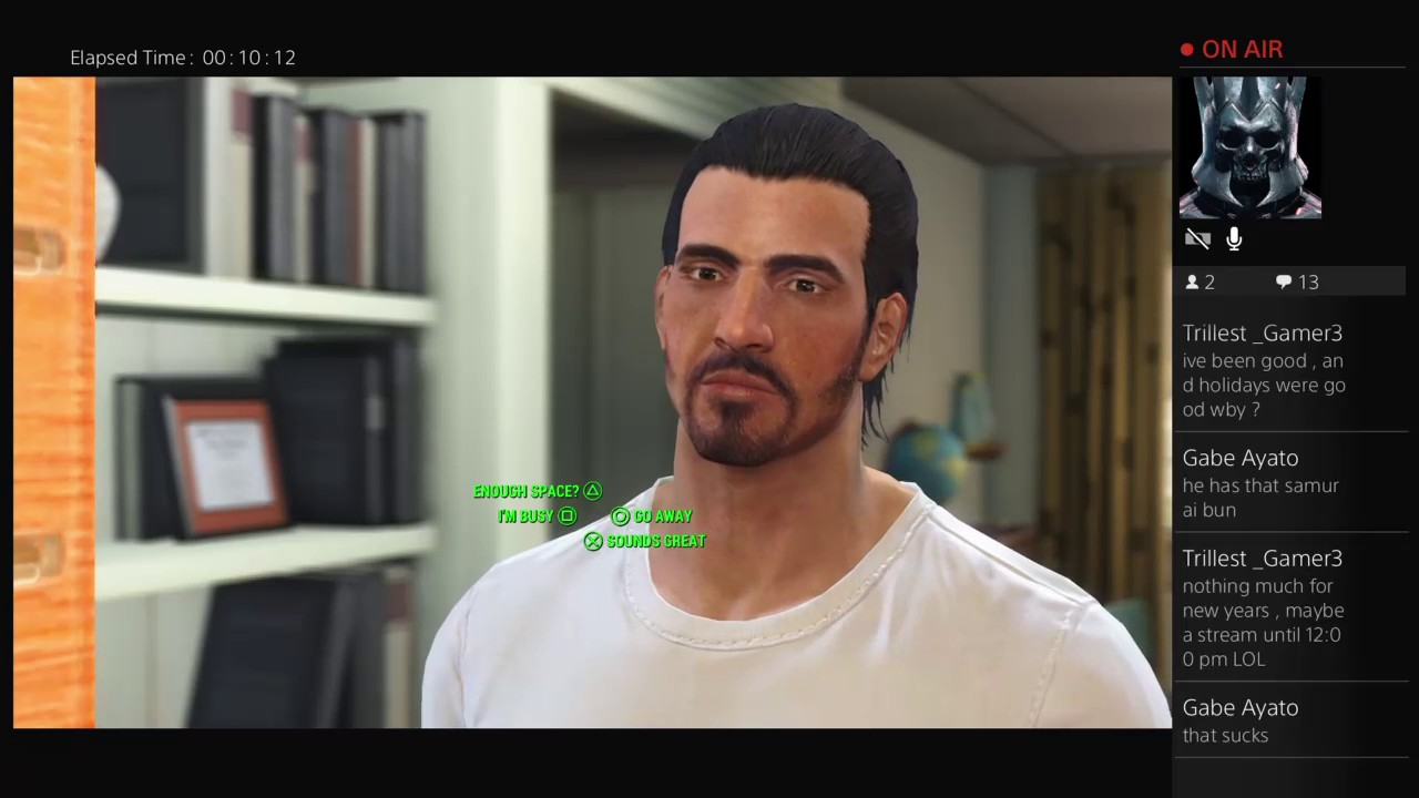PoseidonsWill's first live broadcast with Fallout 4 on PS4 ...