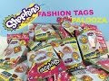 Shopkins Fashion Tags Palooza Opening Toy Review With Season 1 Figures | PSToyReviews