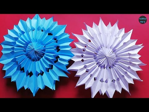 DIY 3D Snowflake Making Tutorial - How to Make 3D Paper Snowflakes