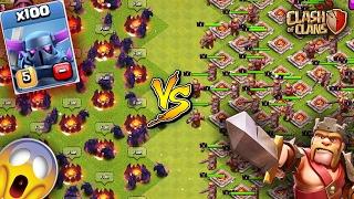 100 Pekkas VS 100 Max Kings Clash Of Clans Royale Rumble