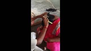 pink aunty hot headshave
