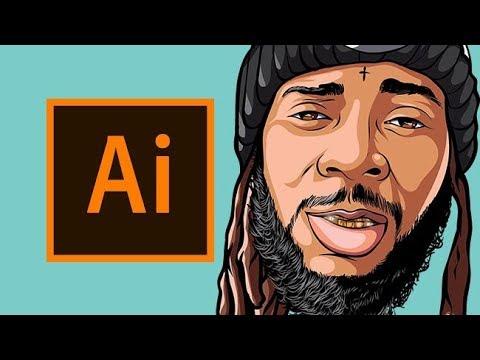 Cartoon Head Speedart 100 / Adobe Illustrator