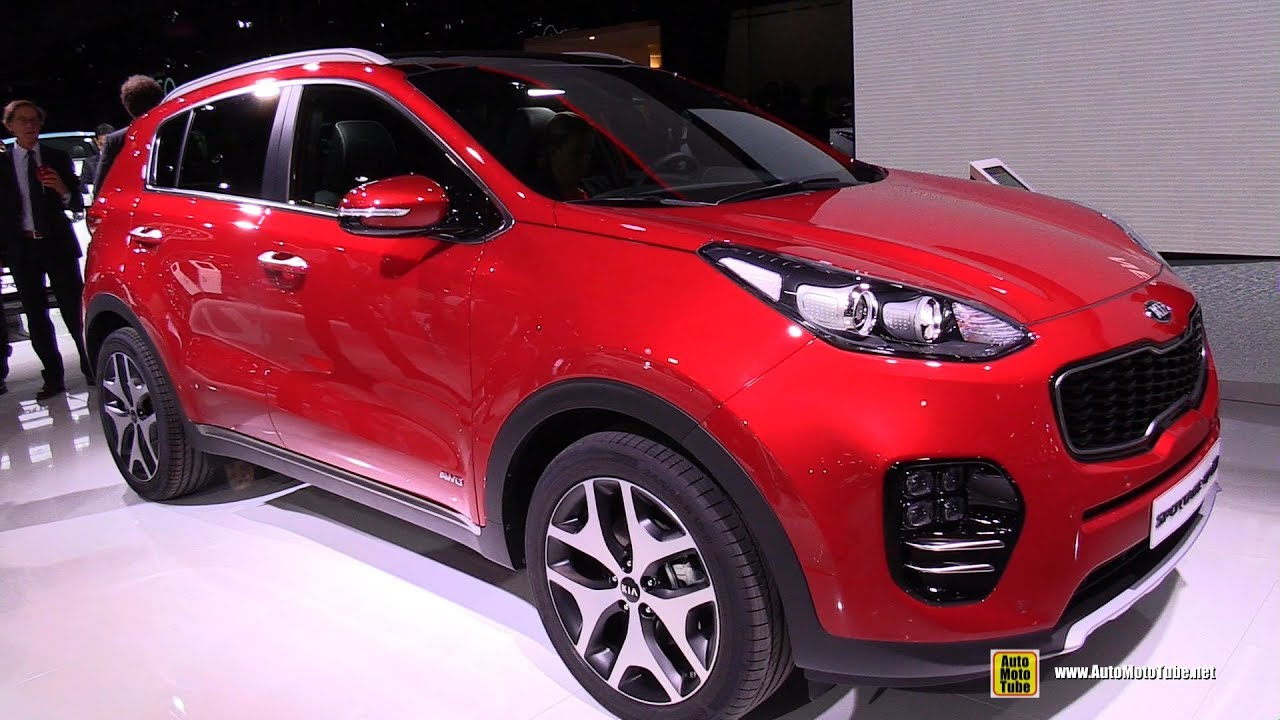 2017 kia sportage gt line exterior and interior walkaround 2016 paris motor show youtube. Black Bedroom Furniture Sets. Home Design Ideas
