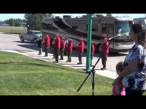 Hay River #NWT Rangers - Canada Day 2011 Flag Raising