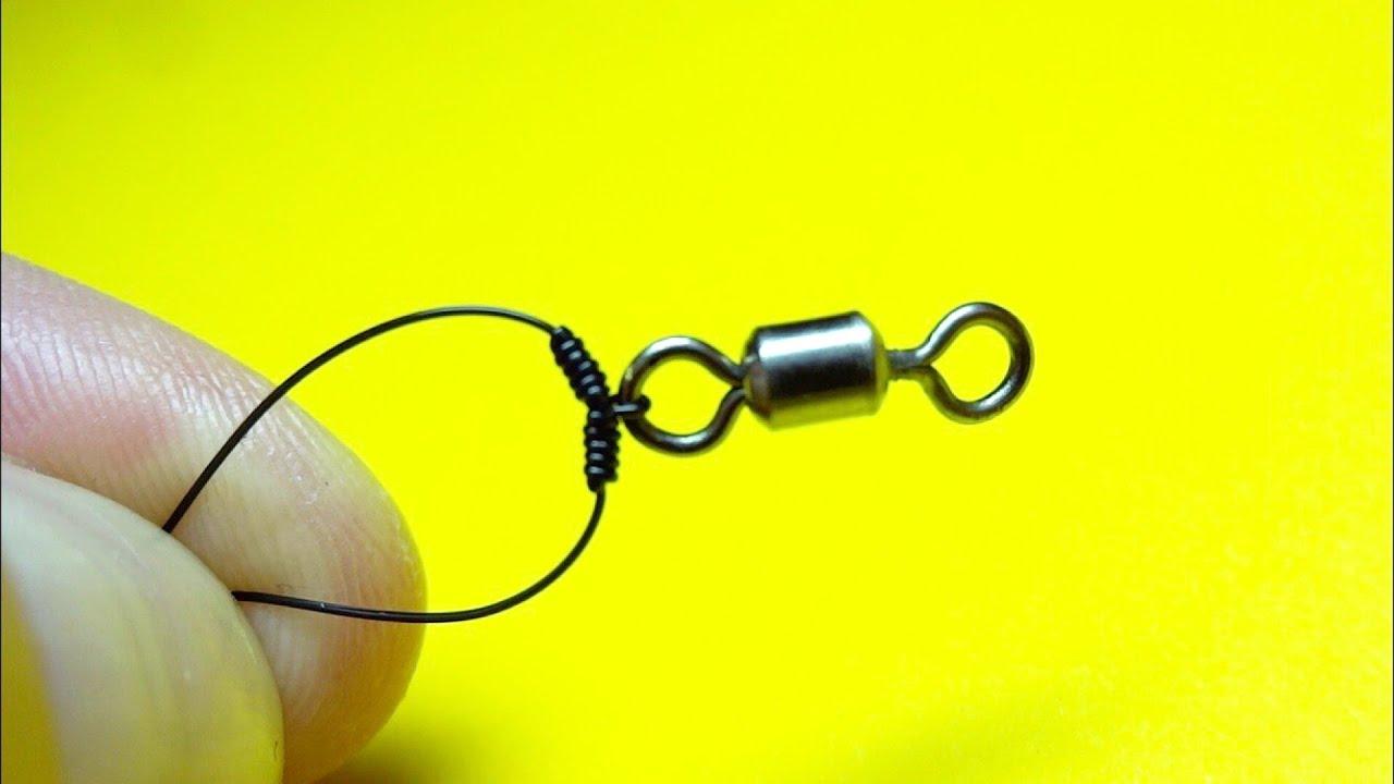 Как привязать поводок чтобы не путался | отводной поводок для крючка | лайфхаки для рыбалки, рыбалка