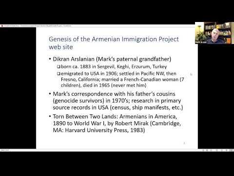 Mark Arslan - Armenian genealogy research