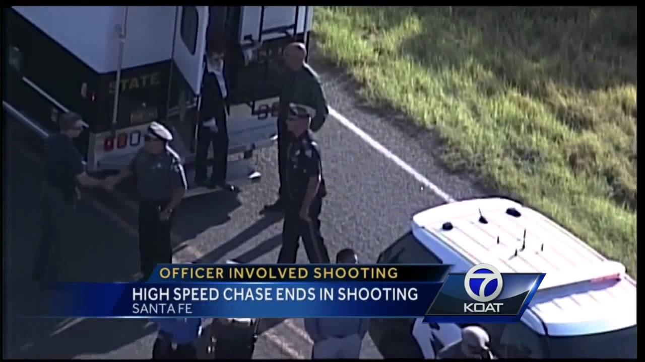 High Speed Chase Ends In Shooting - YouTube