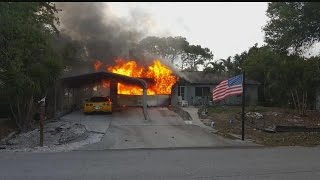 Lee County family escapes house fire thanks to pet