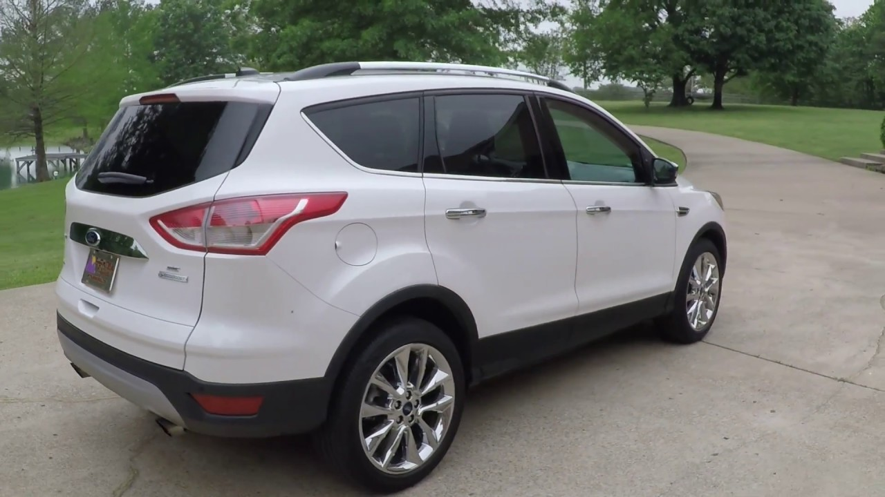 west tn 2014 ford escape titanium white se for sale info www sunsetmotors com youtube. Black Bedroom Furniture Sets. Home Design Ideas