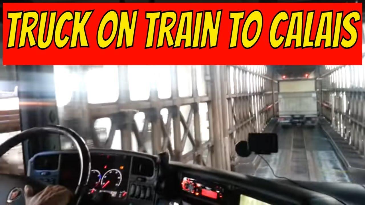Dover Calais Tunnel >> Vrachtwagen op de trein zetten naar Engeland via Calais ...