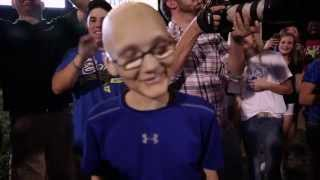 13 year old boy with cancer inspires community to #finishstrong