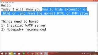 Hide extension like .html or .php from the URL in normal HTML or PHP sites