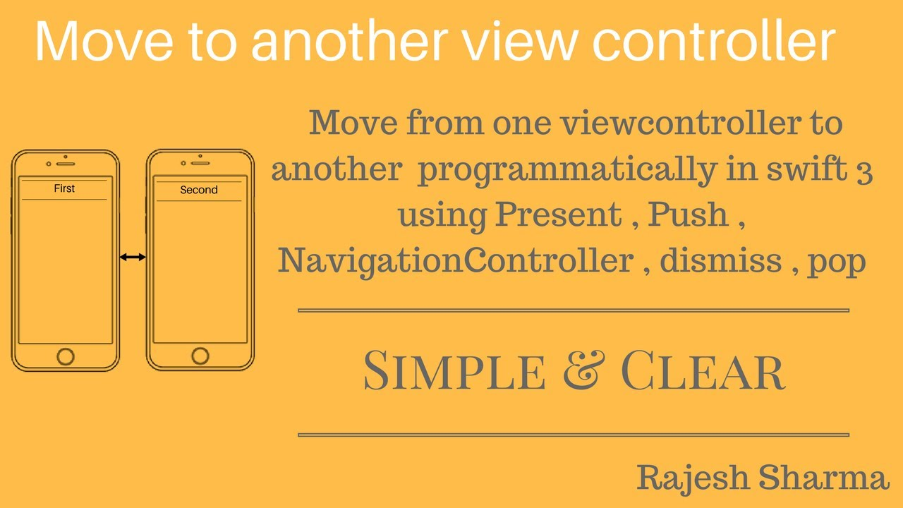 move from one viewcontroller to another in swift 3