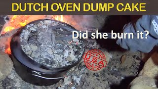 CAST IRON LODGE DUṪCH OVEN CAMPFIRE DESSERT - Blueberry Dump Cake