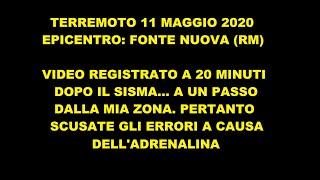 TERREMOTO 11 Maggio 2020 (Fonte Nuova)