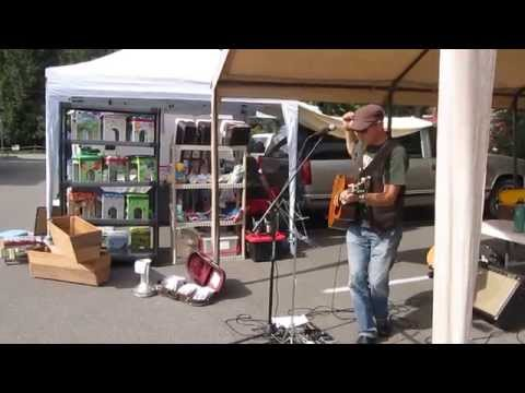 """Kelly Blanchard performing """"Caverns"""" at Bothell Farmer's Market 7/18/14"""