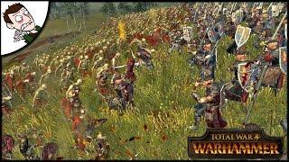 MASSIVE 18000 BRETONNIA v UNDEAD SURVIVAL BATTLE! Total War WARHAMMER Gameplay
