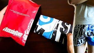 Посылка из Китая, aliexpress. Пляжные шорты Aussiebum(Посылка с плавательными шортами от фирмы якобы Aussiebum. Аналогичные шорты заказывались пару лет назад с таоба..., 2015-07-30T16:39:58.000Z)