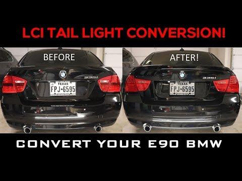 E90 BMW LCI LED Tail Light Conversion DIY