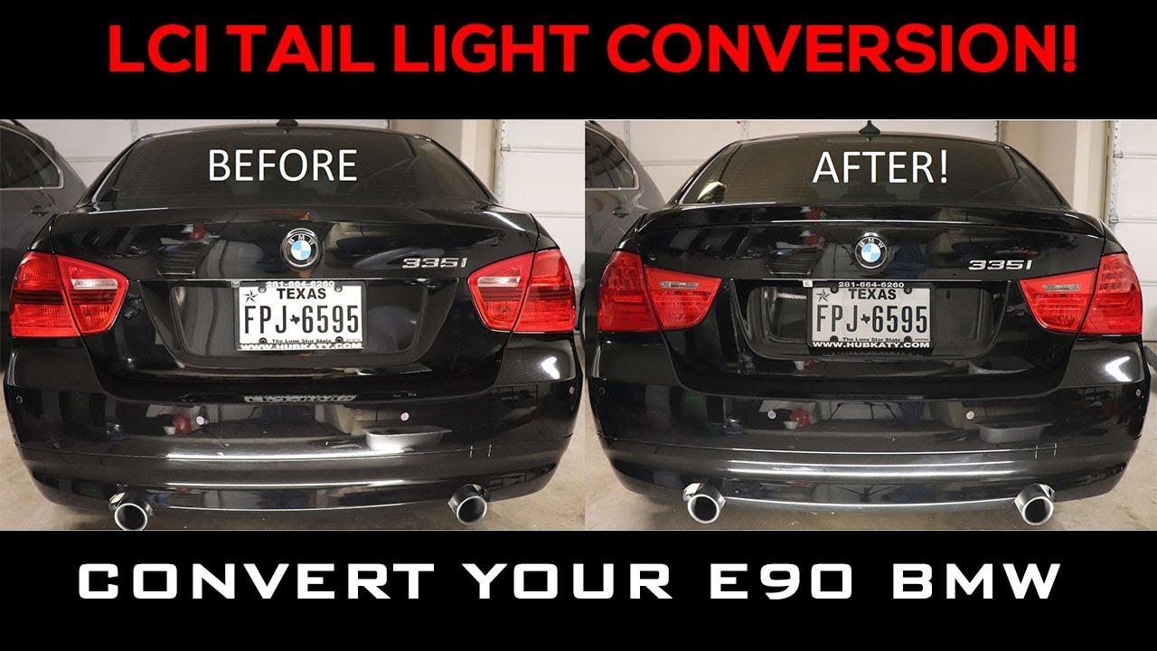 Led Grill Lights >> E90 BMW LCI LED Tail Light Conversion DIY - YouTube