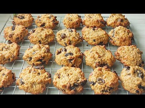 Oatmeal Cookie คุกกี้ข้าวโอ๊ตธัญพืช คลีน ทำง่ายๆ อร่อยค่ะ  Healthy Food