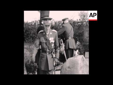 CAN169 KING FREDERICK IX AND FAMILY ATTEND SERVICE MARKING THE DEAD OF THE 1864 GERMAN-DANISH WAR