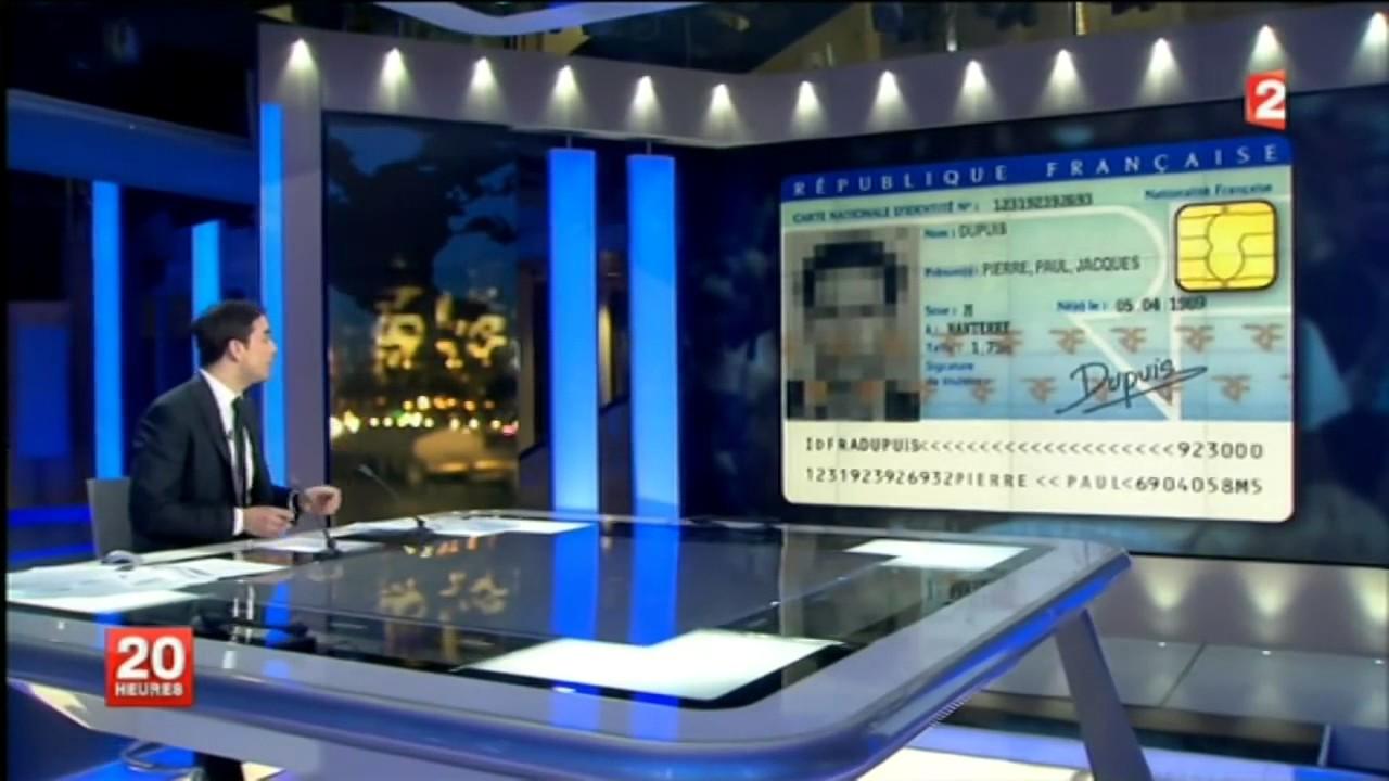 carte d identité biométrique française La nouvelle carte d'identité biométrique 2017   YouTube