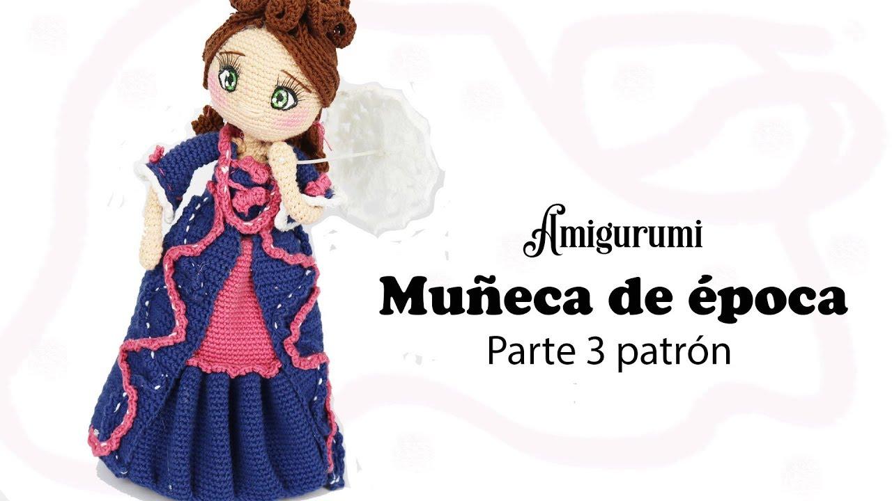 Amigurumi muñeca de época, parte 3/5 patrón gratis - YouTube