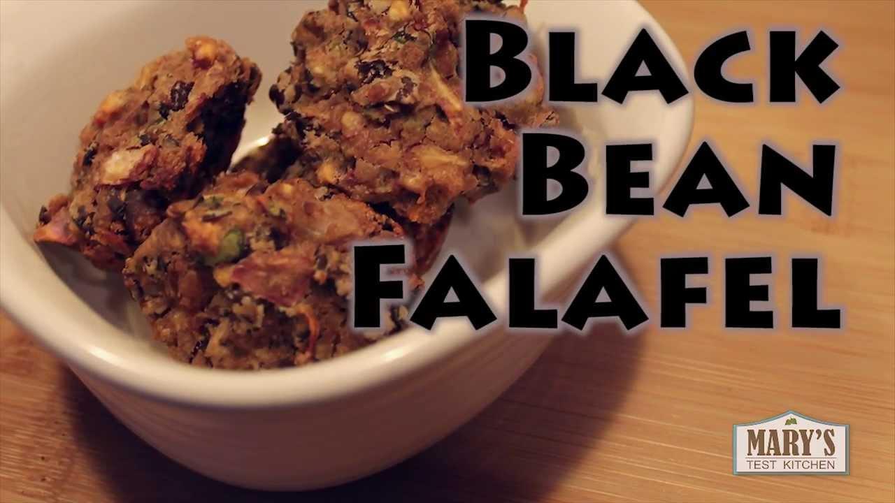 Baked Black Bean Falafel   Vegan Recipe (gluten-free)