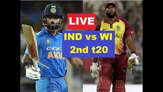 Live: India vs West Indies 2nd T20 |#IndVsWiliveMatch|  Live Ind vs Win 2nd T20 2019