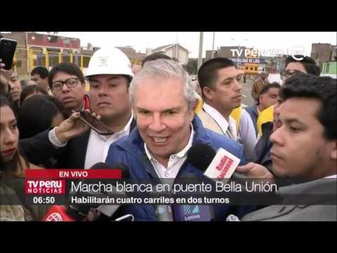 Se inició marcha blanca en puente Bella Unión: Habilitan 2 carriles por cada sentido