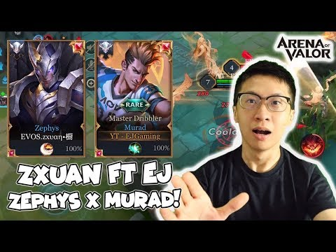 EJ Murad x Zxuan Zephys AUTO GG! Tips Menggunakan Murad ala Messi! - AoV Indonesia