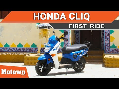 Honda Cliq scooter | First Ride | Motown India