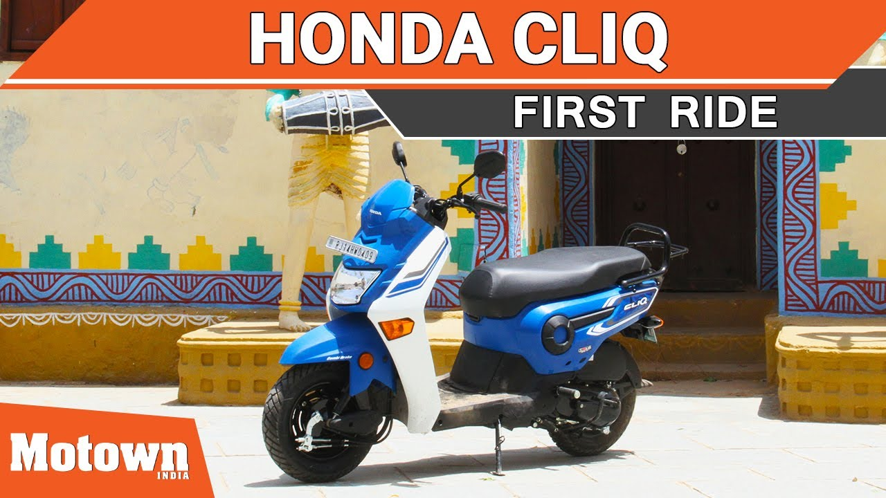 Honda Cliq First Ride Most Affordable 110cc Scooter Motown Front View Bikes In India