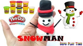How to make Play Doh Snowman ♡ Playdough Review