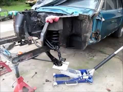 1968 Mustang Front Suspension Install Jade Part 9 Youtube