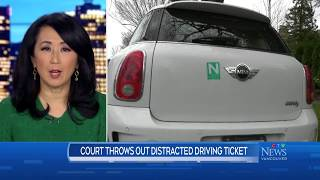 An 'N' driver took his distraction ticket to B.C. Supreme Court - and won
