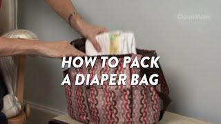 How To Pack A Diaper Bag   Cloudmom