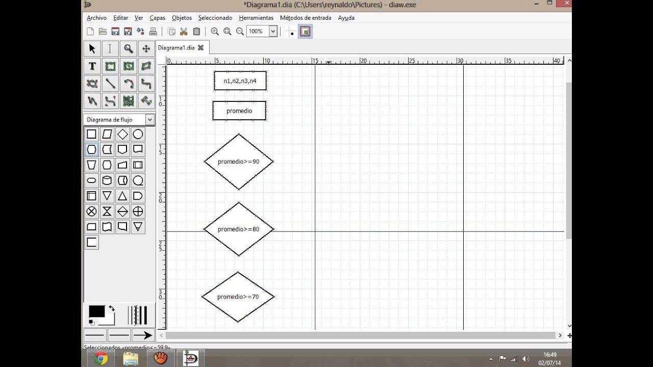 Alberto   Programa Promedio De Notas  Y El Diagrama De