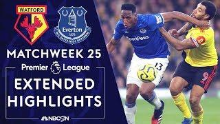 Watford v. Everton | PREMIER LEAGUE HIGHLIGHTS | 2/1/2020 | NBC Sports