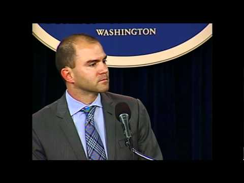 Deputy National Security Advisor Rhodes Delivers Remarks on the G-8 and NATO Summits