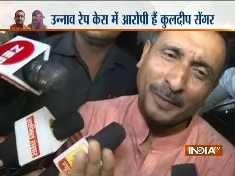 BJP MLA Kuldeep Singh Sengar Reaches Lucknow SSP Office, Says 'here To Prove I Am Not Absconding'