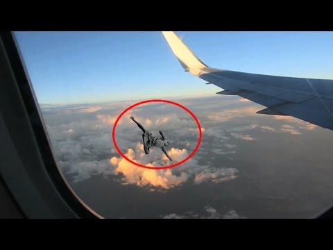 Mystery Man Flies Past Airbus Plane
