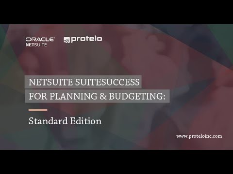 Standard Edition - NetSuite SuiteSuccess Planning & Budgeting