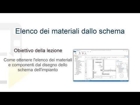 Tutorial Praticus-37/08 - Elenco dei materiali dallo schema - ACCA software thumbnail