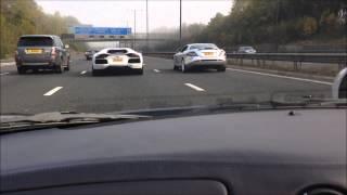 Скачать Ferrari 360 Vs Lamborghini Aventador Race Clutch Burns Out
