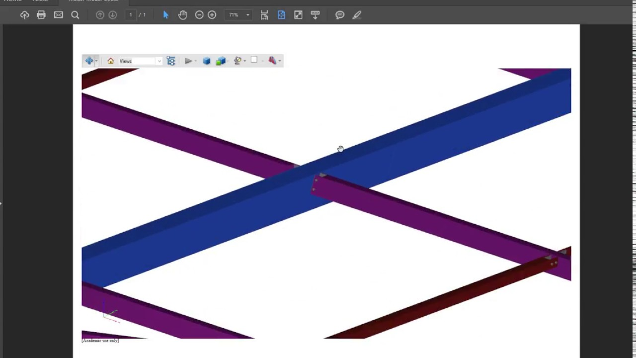 Tekla Structures - make a 3d pdf for your model