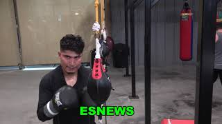 Mikey Garcia Full Workout Right After Sparring In Camp For Jessie Vargas EsNews Boxing