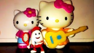 Видео для детей. Хело Китти и Король Киндер Сюрприз. Как девочки играют в куклы!0+